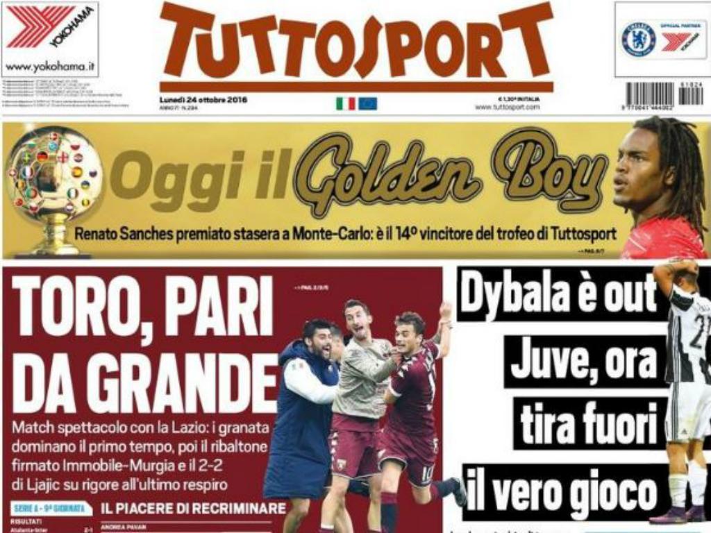 Tuttosport - Renato Sanches Golden Boy