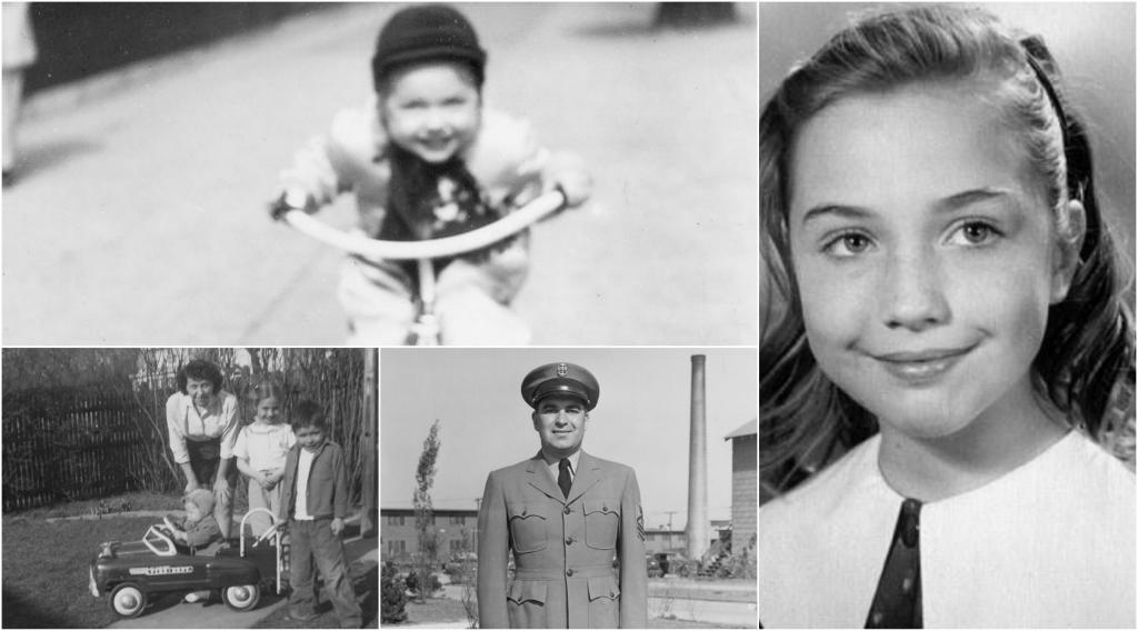 Hillary Clinton em criança com a família