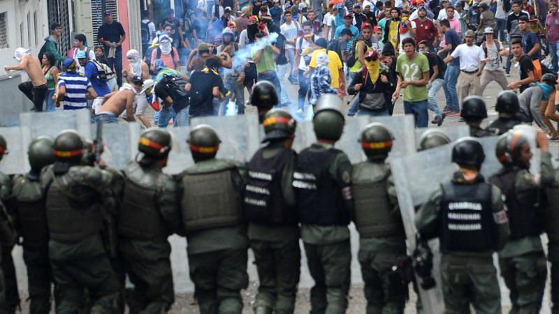 Manifestação em San Cristobal, Venezuela, para exigir referendo que visa a destituição do presidente Nicolas Maduro, 26 de outubro de 2016
