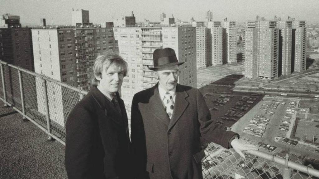 Donald com o pai Fred Trump