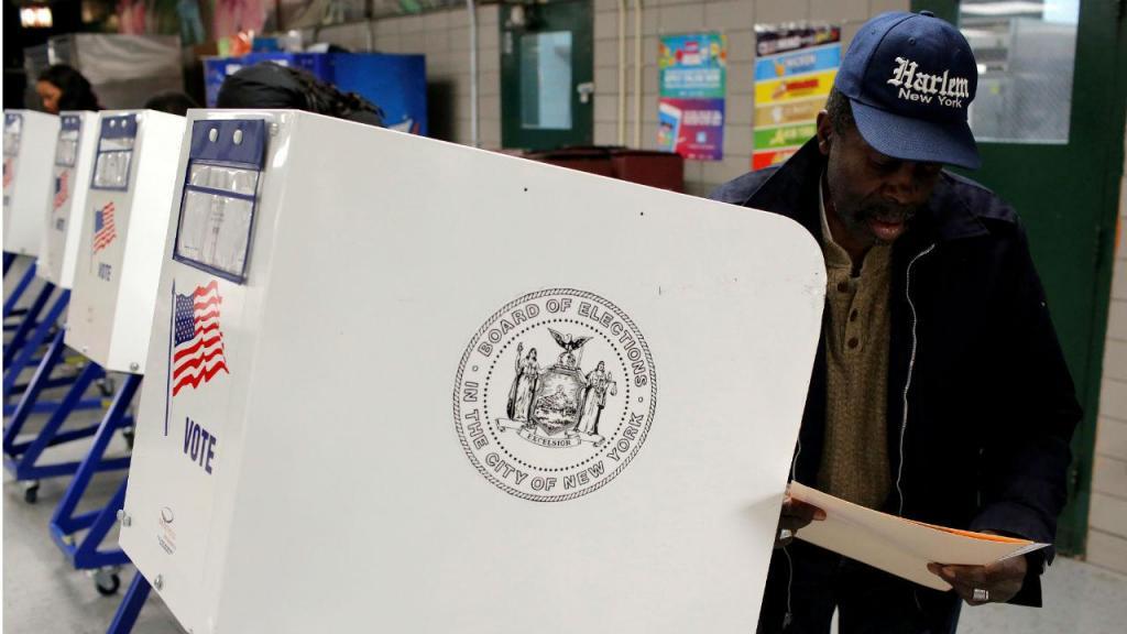 Mesas de voto em Nova Iorque