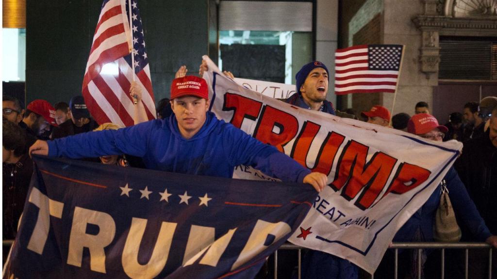 Apoiantes de Donald Trump começaram a festejar cedo