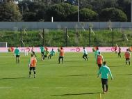 Treino da seleção na Cidade do Futebol