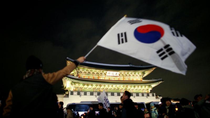 Protesto na Coreia do Sul