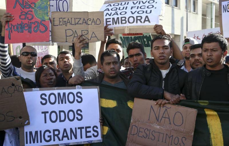 Manifestação contra a lei da imigração em Lisboa