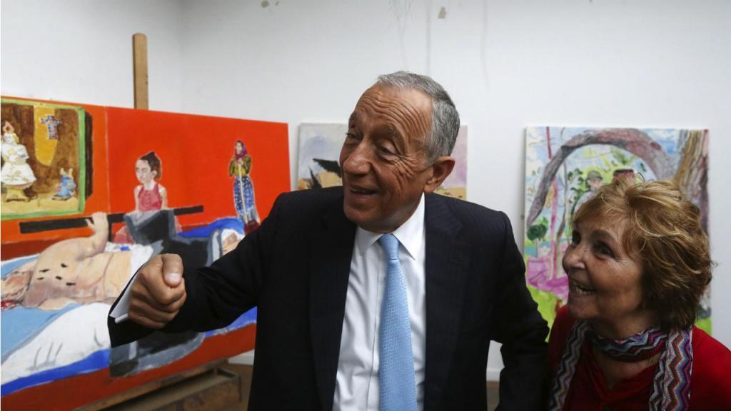 Marcelo Rebelo de Sousa e Paula Rego