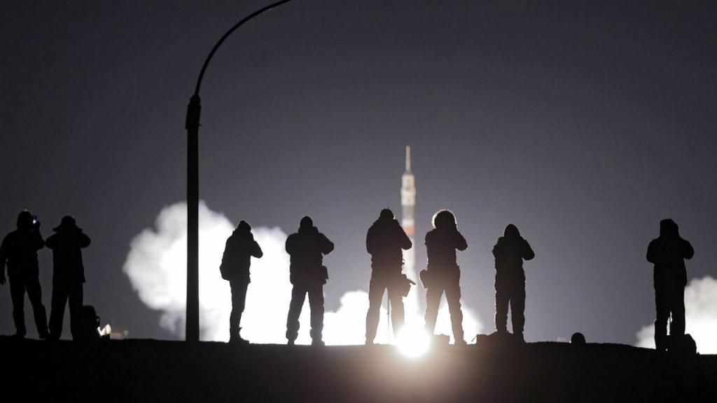 Lançamento nave russa Soyuz MS-03