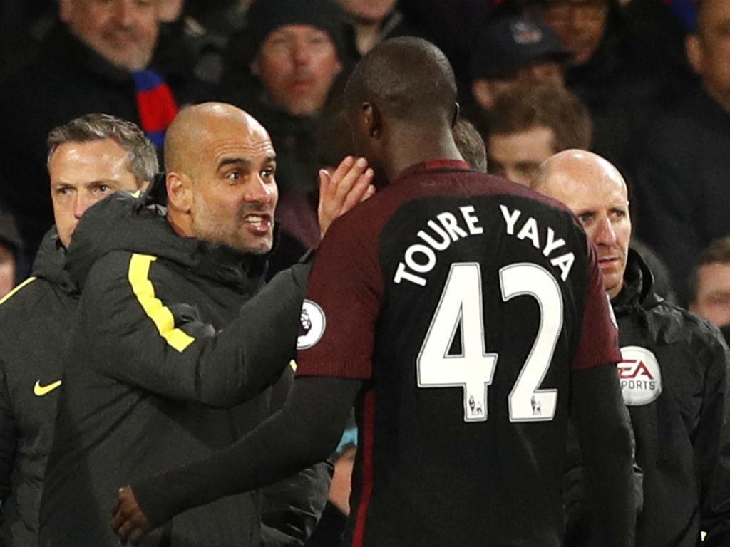 Yaya Toure e Guardiola