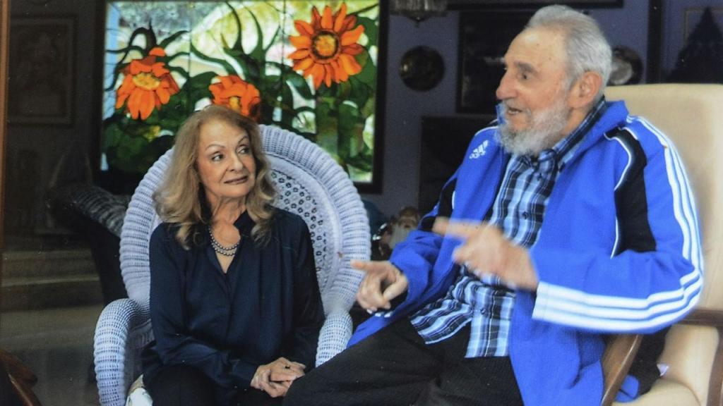 Fidel Castro e a segunda mulher Dalia Soto del Valle
