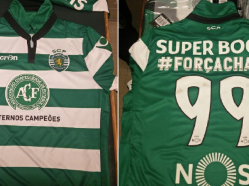 Sporting: a camisola de homenagem à Chapecoense (foto)