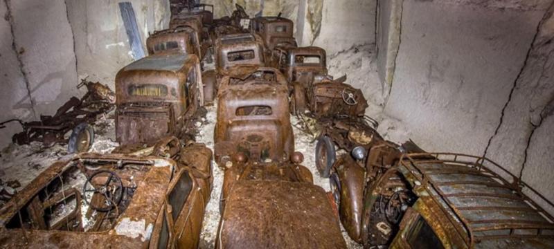 Relíquias esquecidas em mina