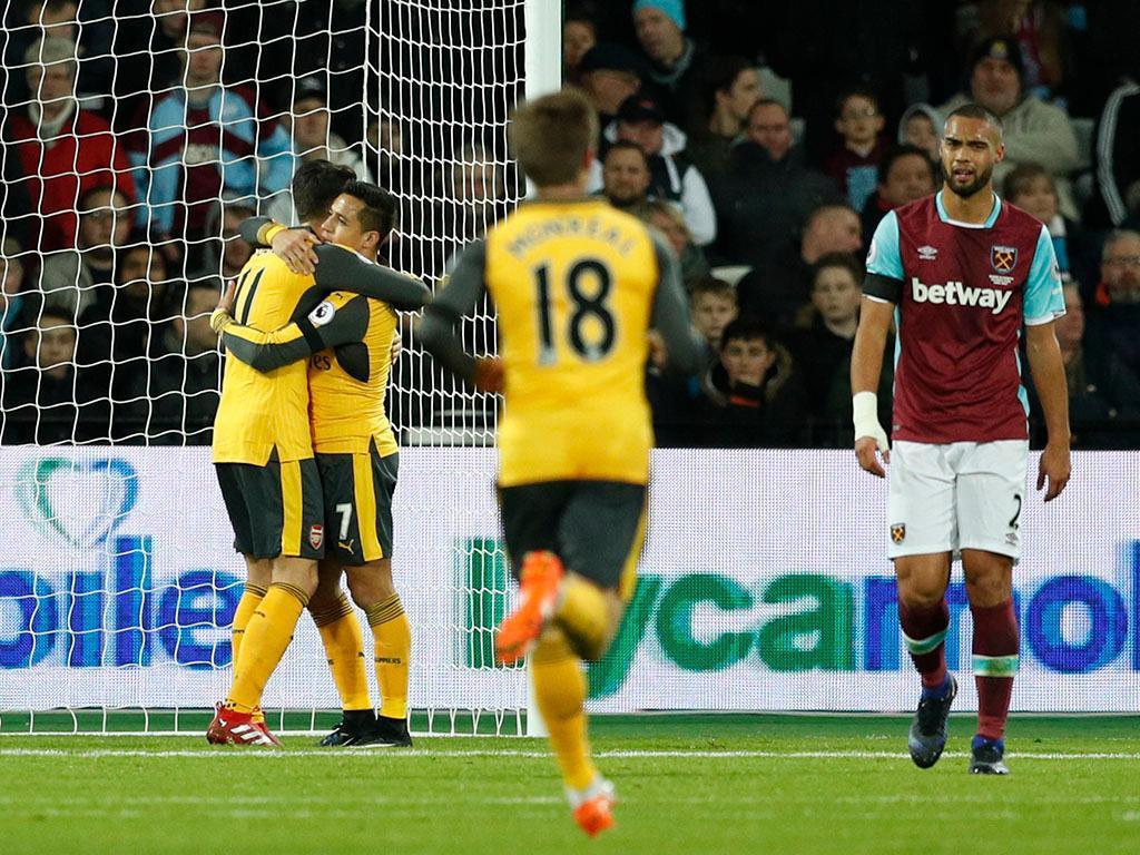 West Ham-Arsenal (Reuters)