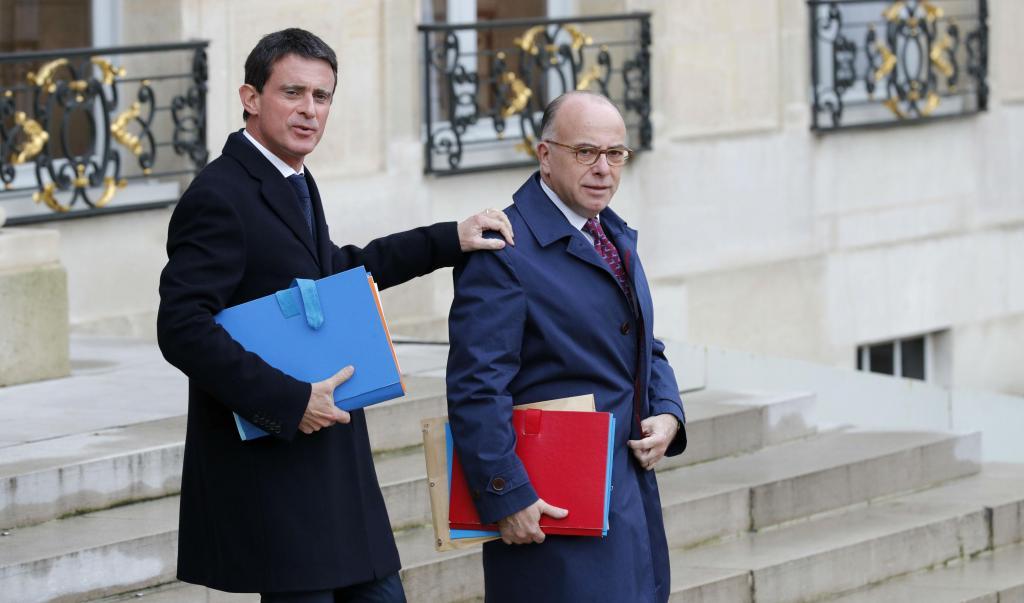 Manuel Valls e Bernard Cazeneuve