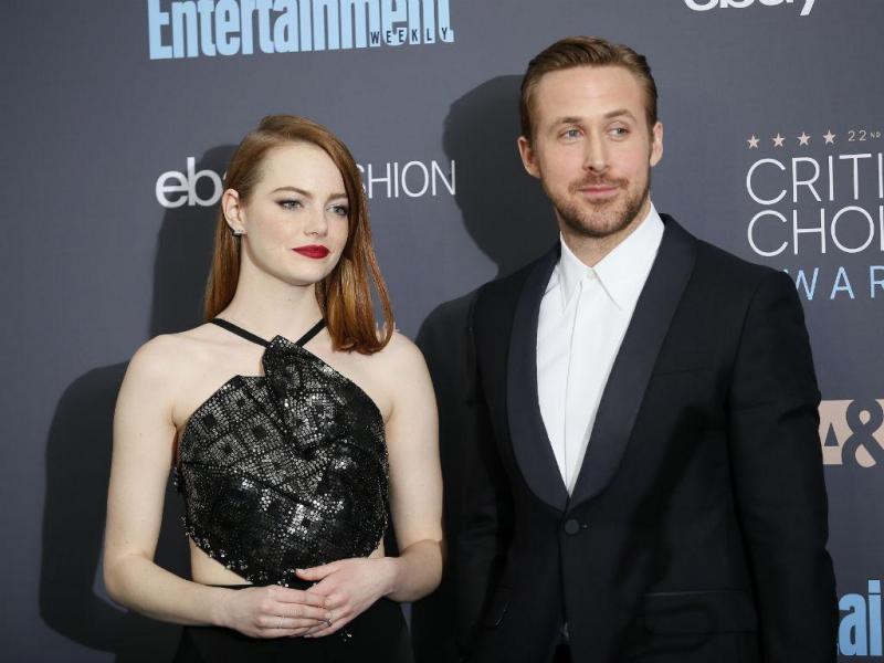 """Atores Emma Stone e Ryan Gosling protagonistas de """"La La Land"""""""
