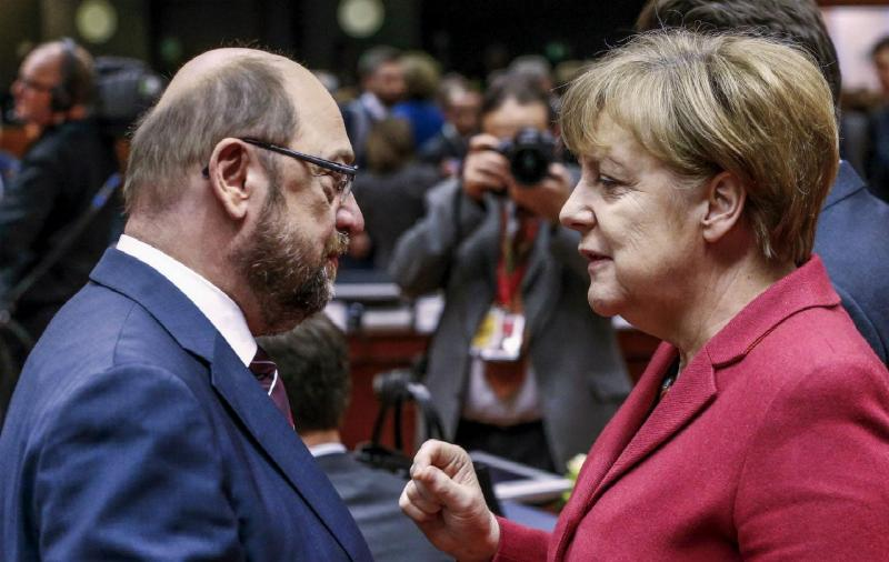 Martin Schulz e Angela Merkel