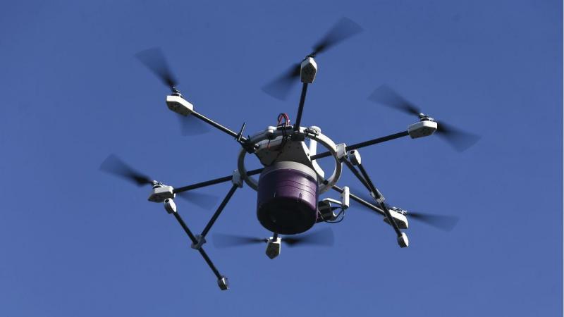 Drone entrega comida em aldeias isoladas de Coimbra