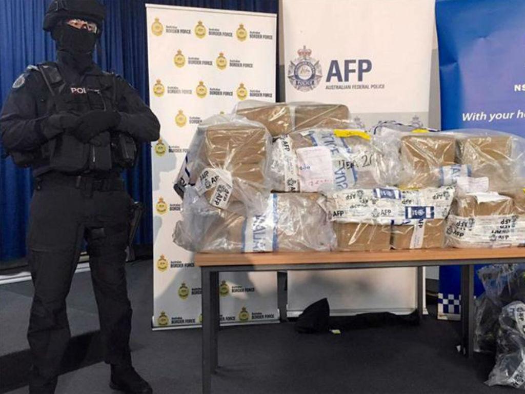 Austrália faz apreensão recorde de cocaína