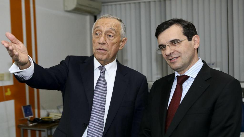 Marcelo Rebelo de Sousa e Adalberto Campos Fernandes