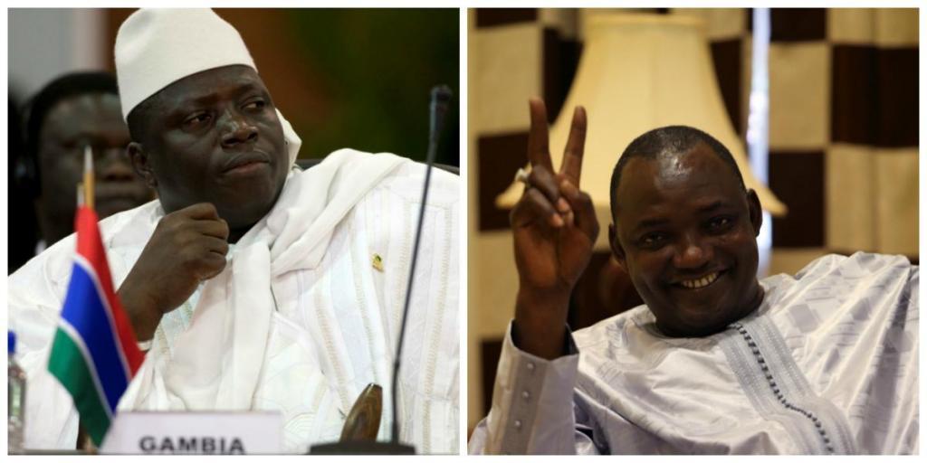Gâmbia - Yahya Jammeh (presidente derrotado)/  Adama Barrow (presidente eleito)