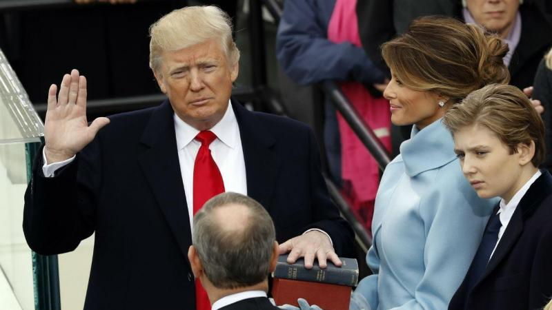 O juramento de Donald Trump