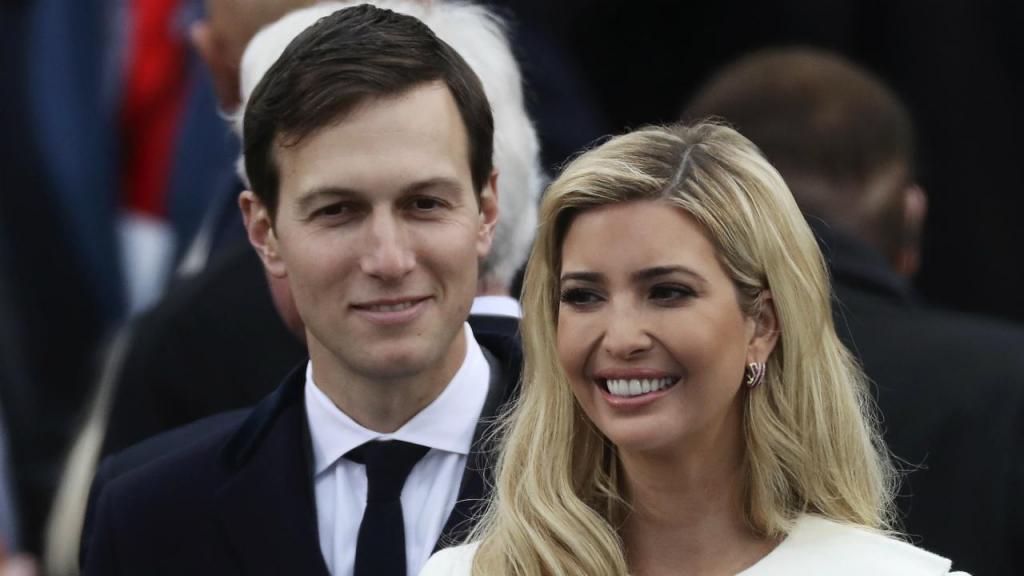 A filha e o genro de Trump
