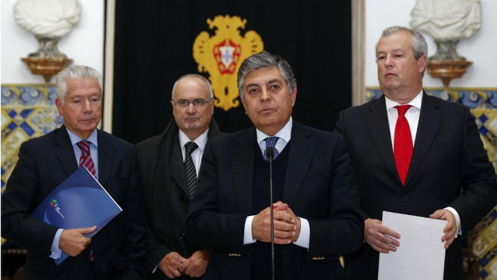 Líderes das confederações patronais - António Saraiva (CEP); João Vieira Lopes (CCP); João Machado (CAP) e Francisco Calheiros (Confederação do Turismo Português)