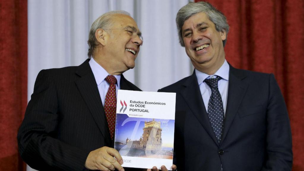 Angel Gurria e Mário Centeno