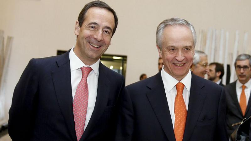 Gonzalo Gortázar (CaixaBank) e Fernando Ulrich (BPI)