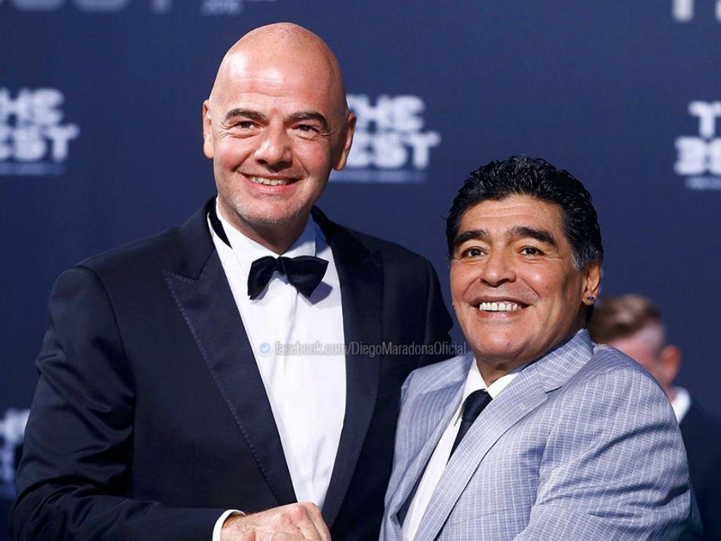Maradona com Infantino