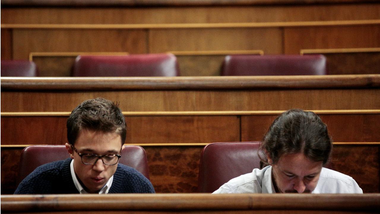 Íñigo Errejón e Pablo Iglesias (Podemos - Espanha)