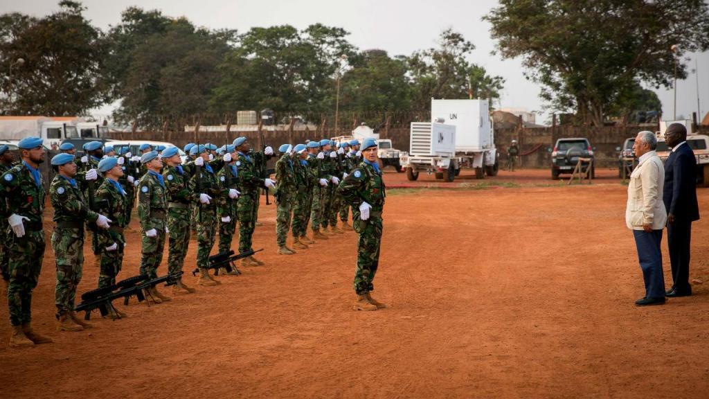 António Costa visita militares portugueses na República Centro-Africana