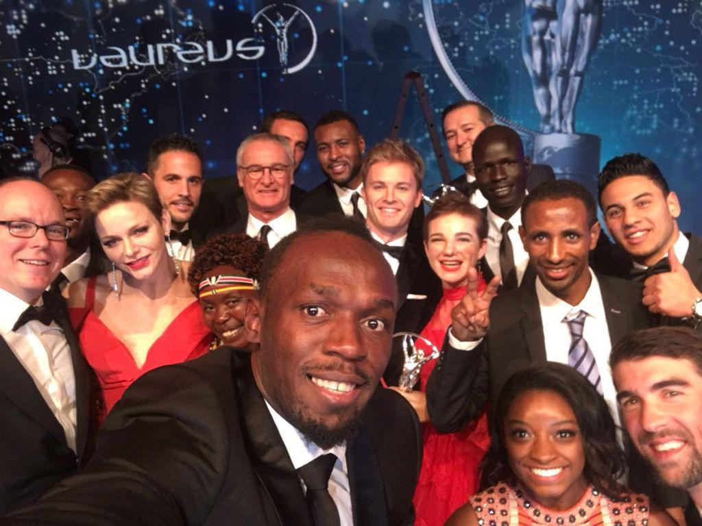 Usain Bolt e os vencedores dos Laureus