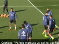 Ronaldo provoca Casemiro no treino