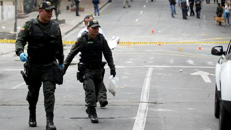 Polícias colombianos