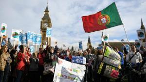 Portugal em protesto pró-imigrantes no Reino Unido