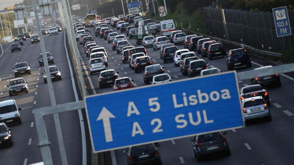 Engarrafamento em Lisboa