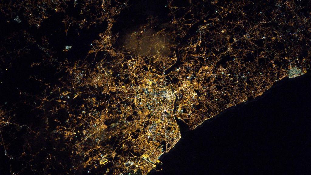 Astronauta publica imagem do Porto vista do Espaço