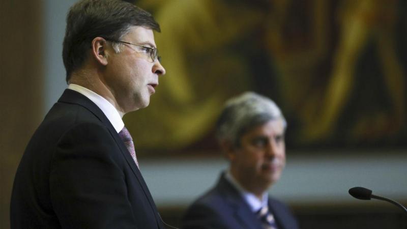 Valdis Dombrovskis e Mário Centeno