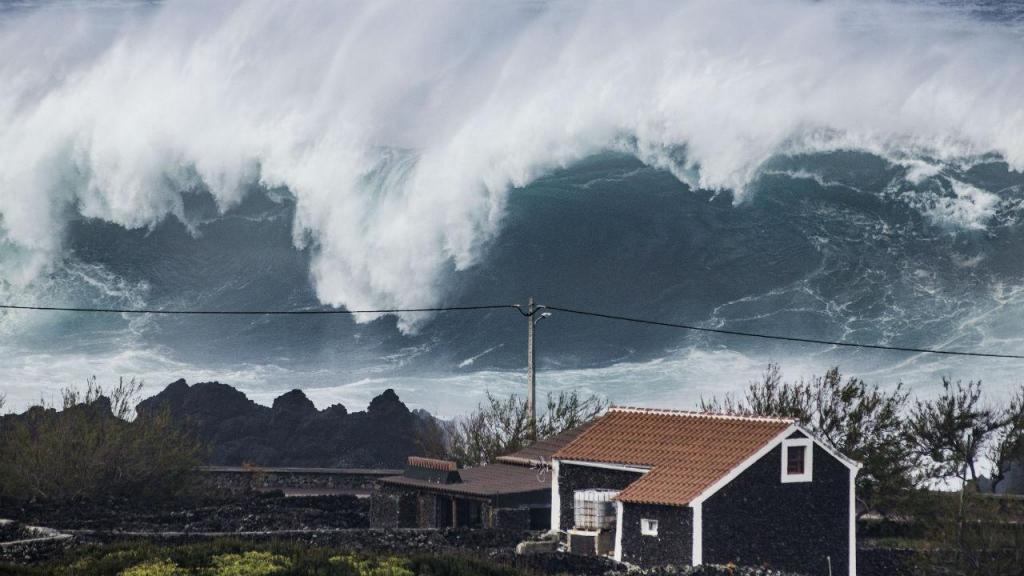 Ondas gigantes nos Açores
