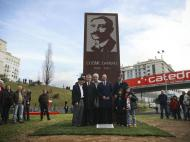 Inauguração do monumento de homenagem a Cosme Damião, na Luz (Mário Cruz/Lusa)