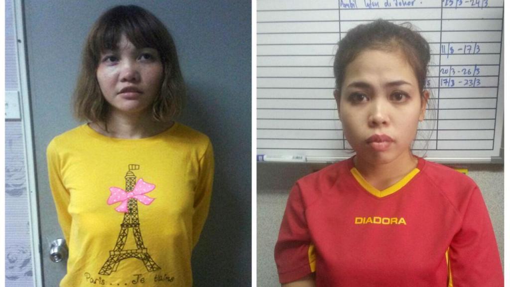 Duas mulheres acusadas do homicídio do irmão do líder norte-coreano