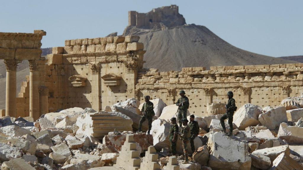 Exército sírio em Palmira