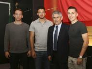 João Escoval, Pedro Amaral e Filipe Ferreira renovam (foto: Benfica)