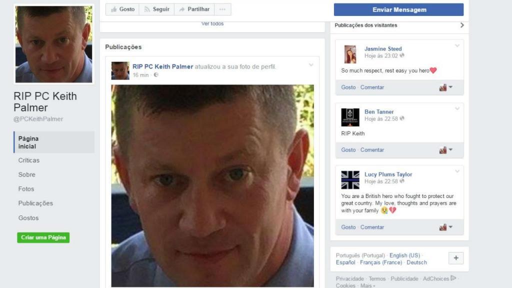 Keith Palmer, o polícia que morreu no ataque em Londres