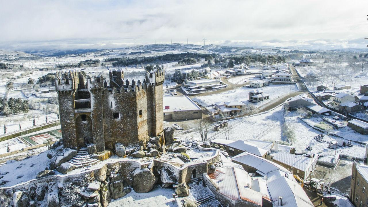 Neve no Castelo de Penedono