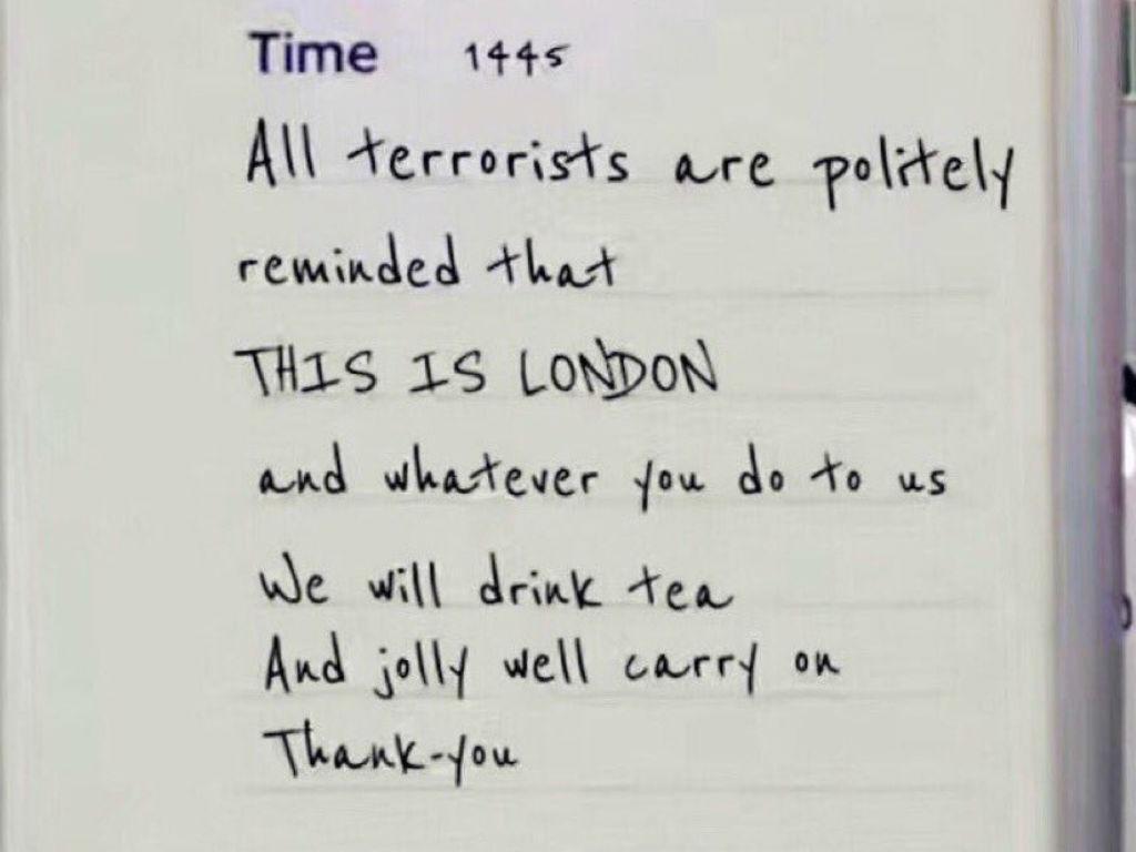 A mensagem que Londres deixa aos terroristas