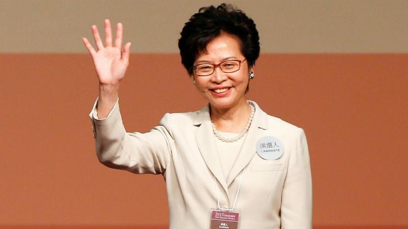 China diz que eleição de Carrie Lam foi justa