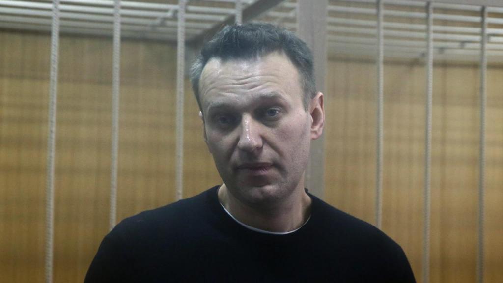 Alexei Navalny em tribunal