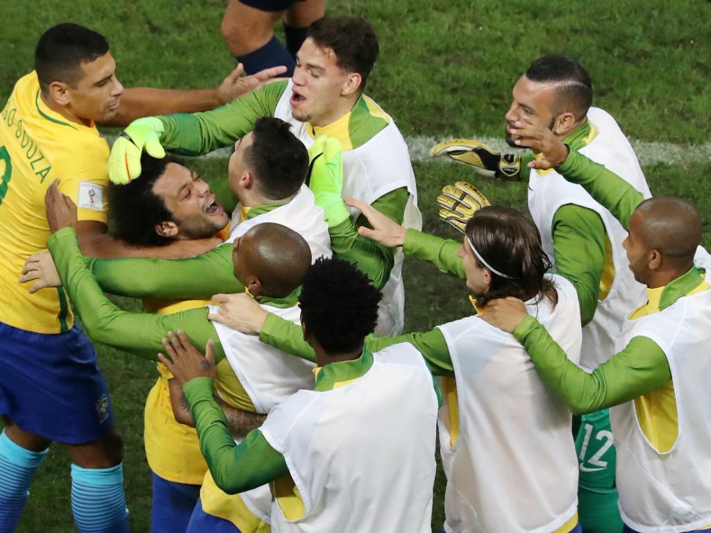 Ederson - Brasil vs Paraguai (Reuters)