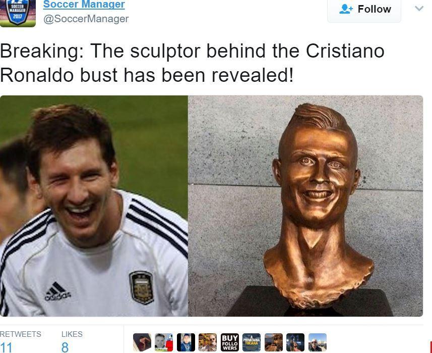 5cda6bfe26894 Na internet, a nova estátua de esgar bizarro tornou-se viral e não faltam  paródias e memes a brincar com a situação.